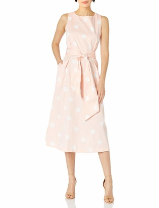 Anne Klein Women's MIDI Dress with Attached SASH