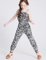 Marks and Spencer Animal Print Jumpsuit (3-14 Years)