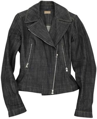 Alaia Blue Cotton Leather Jacket for Women