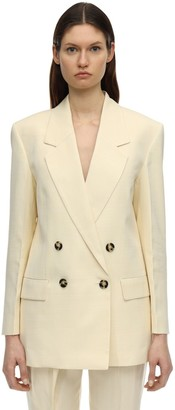 Proenza Schouler Double Breasted Light Viscose Blazer