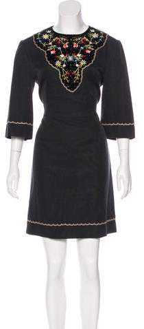 Vilshenko Alexis Embroidered Dress w/ Tags