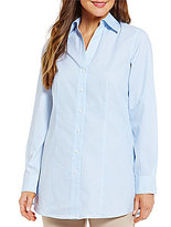 Investments Y-Neck Button Front Shirt
