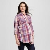 Liz Lange for Target Maternity Plaid Popover Tunic