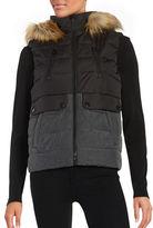 Calvin Klein Faux Fur Trimmed Puffer Vest