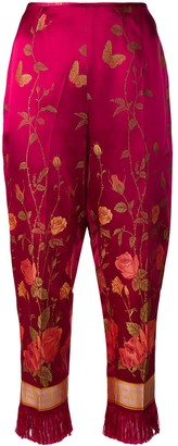 Jean Paul Gaultier Pre Owned Floral Print Cropped Trousers