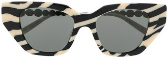 Gucci Crystal-Embellished Cat-Eye Sunglasses