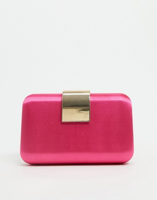 Forever New plate box clutch bag in hot pink