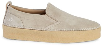 Burberry Sudbury Suede Platform Loafers