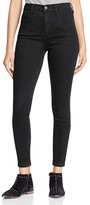 Free People Cyndi High-Rise Skinny Jeans in Black