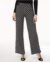 INC International Concepts I.N.C. Geometric Wide-Leg Soft Pants, Created for Macy's