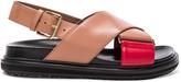 Marni Leather Fussbett Sandals
