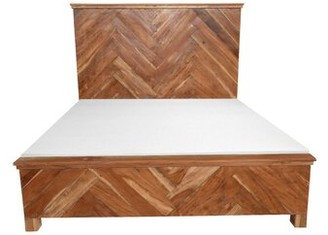Reynaldo Wooden King Platform Bed Union Rustic