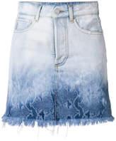 Marcelo Burlon County of Milan snake print denim skirt