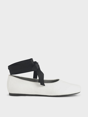 Charles & Keith Ankle Tie Ballerina Flats