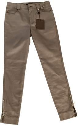 Louis Vuitton Green Cotton - elasthane Jeans for Women