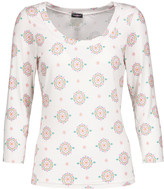 Cosabella Medallion printed stretch-jersey pajama top