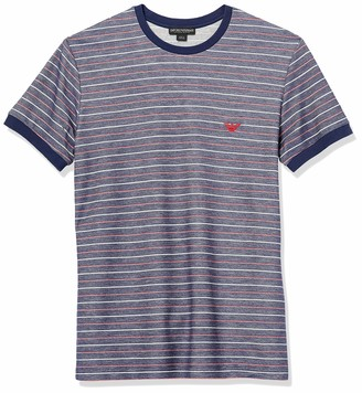 Emporio Armani Men's Striped Terry Short Sleeve Crewneck T-Shirt