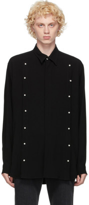 John Lawrence Sullivan Black Front Side Buttoned Shirt