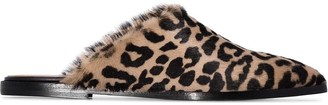 ATP ATELIER Anzi leopard print slippers