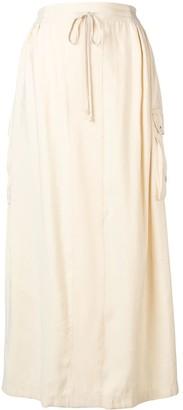 Lorena Antoniazzi Drawstring Maxi Skirt