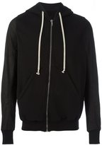 Rick Owens drawstring zipped hoodie - men - Cotton/Lamb Skin/Polyamide - S