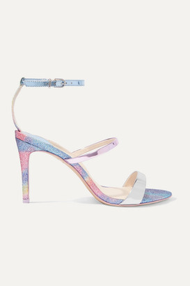 Sophia Webster Rosalind Glittered Mirrored-leather Sandals - Blue