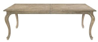 Bernhardt Campania Extendable Solid Oak Dining Table