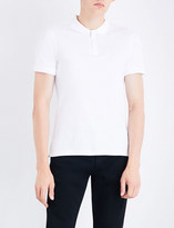 Armani Jeans Zip-up cotton polo shirt