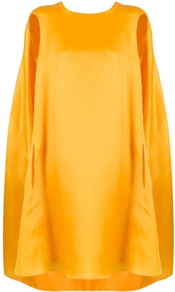 Nina Ricci Oversized Cape Dress