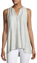 Soft Joie Carley B Sleeveless Striped Top, White