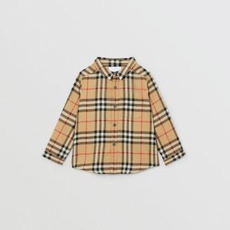 Burberry Childrens Vintage Check Cotton Flannel Shirt