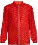 Marco De Vincenzo Fil coupé striped silk-blend shirt