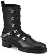 Christian Louboutin Chain Leather Combat Boots