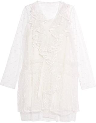 Chloé Ruffled Swiss-dot Tulle Mini Dress
