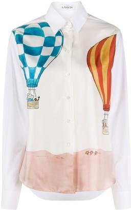 Lanvin hot air balloon-printed shirt
