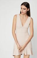 BCBGMAXAZRIA Flounced Hem Mini Dress