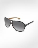 Signature Two-tone Aviator Plastic Sunglasses