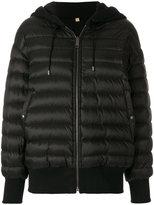 Burberry hooded bomber jacket