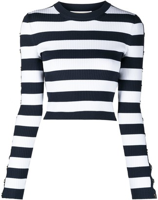 MICHAEL Michael Kors Striped Crew-Neck Jumper