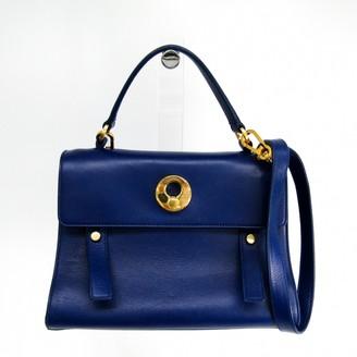 Saint Laurent Muse Two Blue Leather Handbags