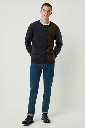 French Connection Windowpane Check Crew Neck Jumper