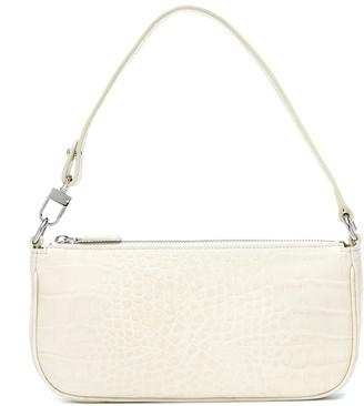 BY FAR Rachel croc-effect leather shoulder bag
