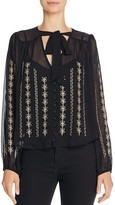 Band of Gypsies Embroidered Chiffon Blouse
