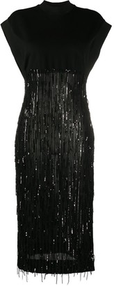 Just Cavalli Sequin Embellished Midi Dress