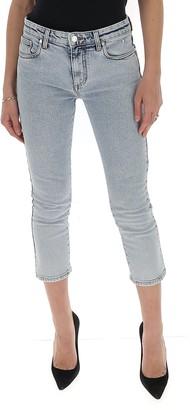 MSGM Logo Cropped Denim Jeans