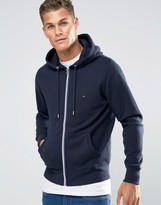 Tommy Hilfiger Hoodie With Zip Up In Navy