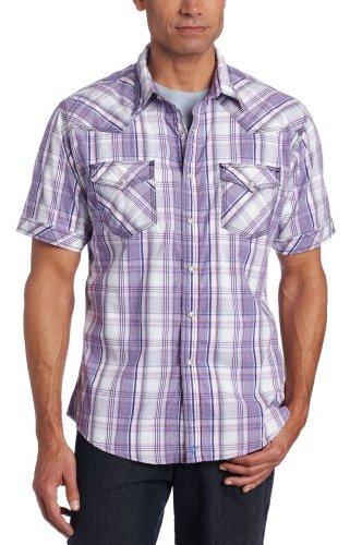 Wrangler Men's 20x Collection Dobby Plaid Short Sleeve