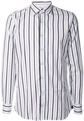 Lardini contrast striped shirt