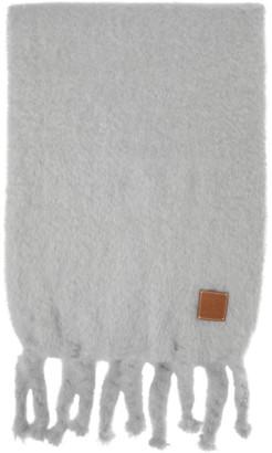 Loewe Grey Mohair Scarf