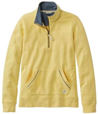 L.L. Bean Women's Organic Cotton Sweatshirt, Quarter-Zip Pullover